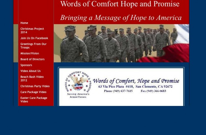 Words of Comfort, Hope and Promise