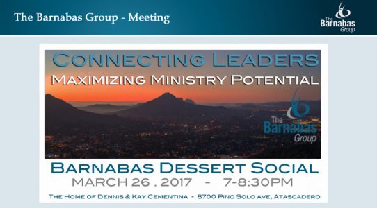 The Barnabas Group – March 26th